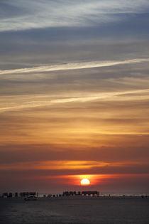 Sonnenuntergang an der Nordseeküste by Britta Hilpert