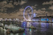 London Eye bei Nacht by stephiii