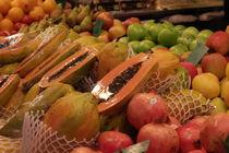 Fresh fruits at La Boqueria in Barcelona by stephiii