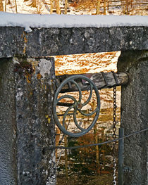 The wheel at the lock by Michael Naegele