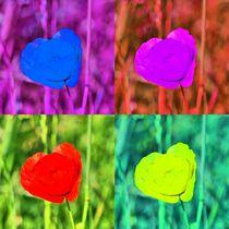 Pop Art Herzmohn von kattobello