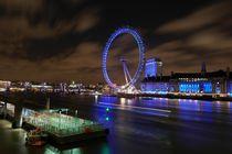 The London eye (Millenium Wheel) in London by night von stephiii
