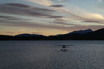 Wasserflugzeug auf dem Lake Te Anau in Neuseeland von stephiii