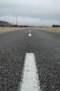 Gerade Straße in Neuseeland by stephiii