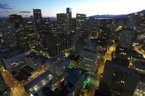Vancouver Downtown by night by stephiii
