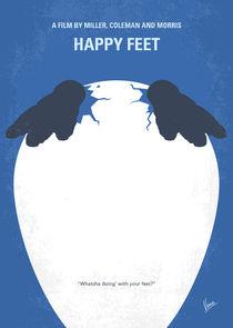 No744 My Happy Feet minimal movie poster by chungkong