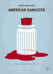 No748 My American Gangster minimal movie poster von chungkong