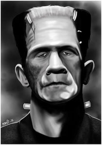 "Caricature of Boris Karloff, as ""Frankenstein"" von Juan Paolo Novelli"