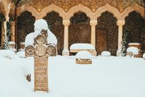 Stavropoleos Monastery In Bucharest During Winter Snow Storm by Radu Bercan
