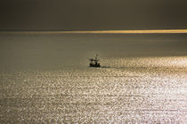 fisherboat and golden reflections by anando arnold