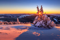 Winter sunset in the Alps by Zoltan Duray