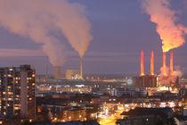 Skyline Wolfsburg mit Kraftwerk, farbig von Jens L. Heinrich