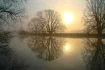 Sonnenaufgang in winterlicher Landschaft by Bernhard Kaiser