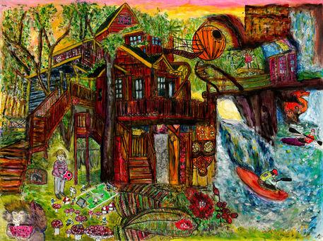 Tree-house-paradise-print