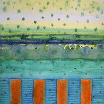 Orange Posts With Landscape by Heidi  Capitaine