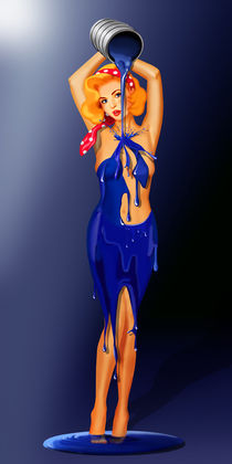 Bodypainting, oder so male ich mir ein Kleid by Monika Juengling