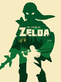 The Legend of Zelda minimalist poster art by Goldenplanet Prints