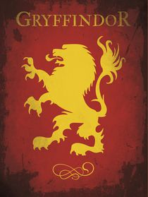 Gryffindor harry potter flag house emblem by Goldenplanet Prints