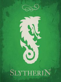 Slytherin harry potter flag house emblem by Goldenplanet Prints