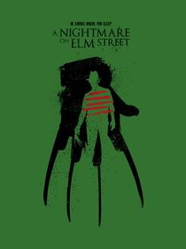 A Nightmare Elm Street movie inspired von Goldenplanet Prints