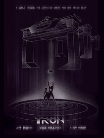 Tron retro movie inspired art print von Goldenplanet Prints