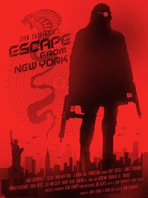 Escape from New York movie inspired  von Goldenplanet Prints