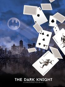 The darknight joker cards movie inspired by Goldenplanet Prints