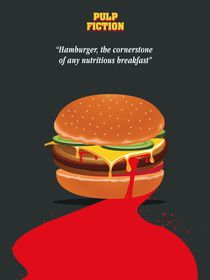 Alternative pulp fiction burger quote art by Goldenplanet Prints