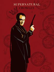 Crowley supernatural tv serie inspired  by Goldenplanet Prints