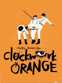 Clockwork orange movie inspired art print von Goldenplanet Prints