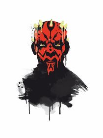 Darth maul watercolor style art print by Goldenplanet Prints