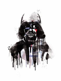 Darth vader watercolor style art print by Goldenplanet Prints
