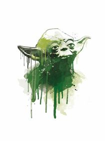Grandmaster yoda watercolor style art print by Goldenplanet Prints