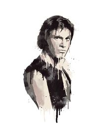 Han solo watercolor style art print by Goldenplanet Prints