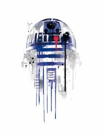 R2D2 watercolor style art print by Goldenplanet Prints