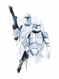 Stormtroopers watercolor style art print von Goldenplanet Prints