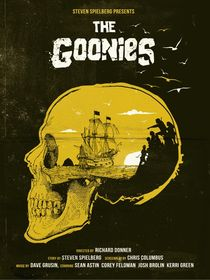 The Goonies skull art movie inspired by Goldenplanet Prints