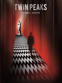 Twin peaks illustration retro tv serie inspired von Goldenplanet Prints