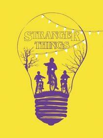 Alternative stranger things yellow version by Goldenplanet Prints