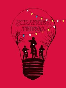 Alternative stranger things red version art von Goldenplanet Prints