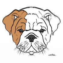 British Bulldog Puppy Design by Vincent J. Newman