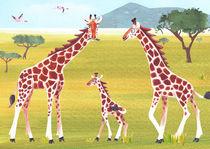 Giraffen Familie von Julia Reyelt
