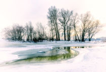 Frozen Water, Snow and Ice on the Dnieper River by maxal-tamor
