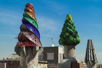 Chimneys of Palau Guell in Barcelona von stephiii