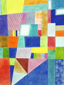 . Colorful Abstract with Slantings and Windows  von Heidi  Capitaine