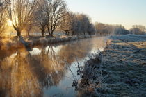 Wintermorgen an der Niers von Frank  Kimpfel
