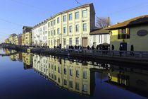 Häuserreihe in Mailand  von Patrick Lohmüller