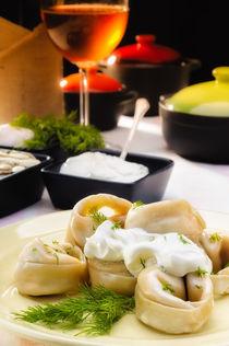 Pelmeni (Dumplings) with Fennel and Smetana (Sour Cream) by maxal-tamor