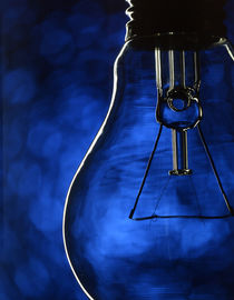 Bulb on blue by maxal-tamor