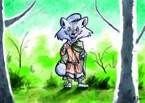 Wikinger-Fuchs im Wald von Miguel Fernando Egaña Silva
